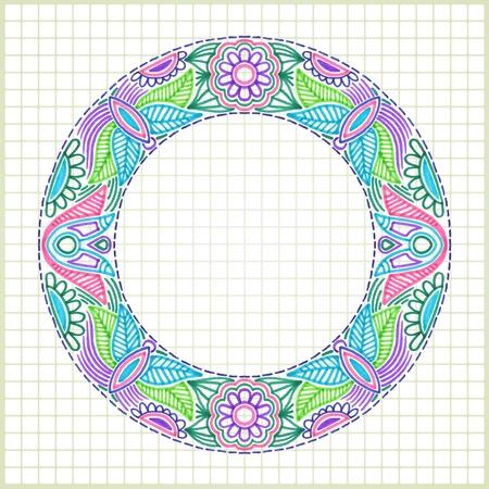 pen and marker: hand draw doodle vector frame element  Illustration