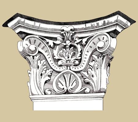 Series - The reliefs of the 19th century Kiev buildings (Ukraine) Vector