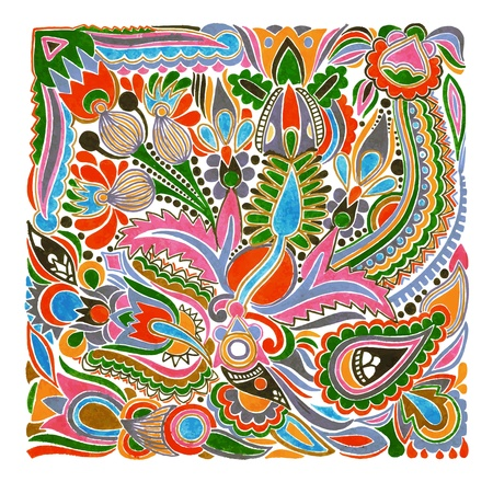 ucraniano: hand draw marker flower vector ethnic design. Ukrainian traditional painting