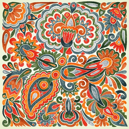 ethnic pattern: hand draw marker flower vector ethnic design. Ukrainian traditional painting