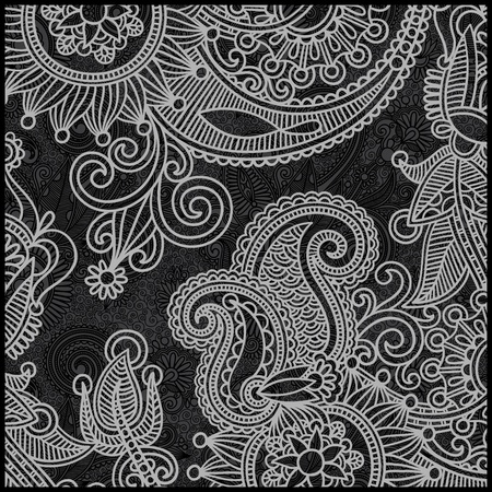 black and white floral pattern Stock Vector - 11638898