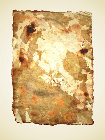 burning paper: dirty old paper