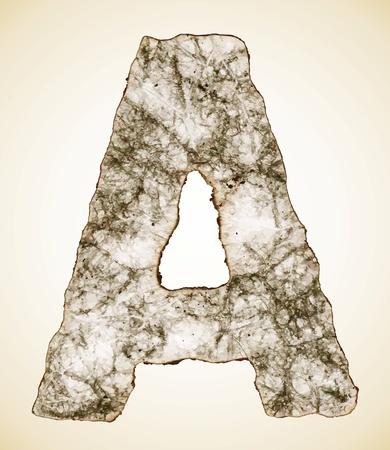crush paper texture alphabet Stock Vector - 11638869