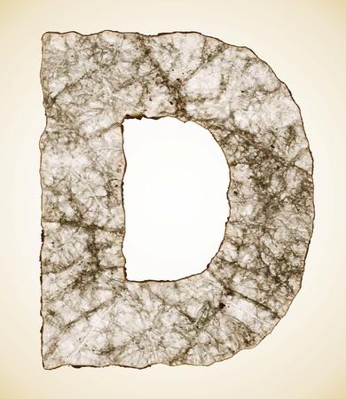 alphabetic: crush paper texture alphabet