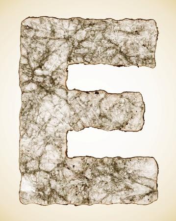 crush paper texture alphabet