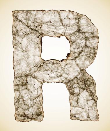 crush paper texture alphabet  Vector