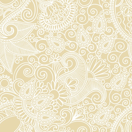 seamless flower paisley design background  Stock Vector - 11638950