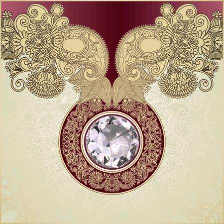 ornament  jewellery: diamond luxury background  Illustration