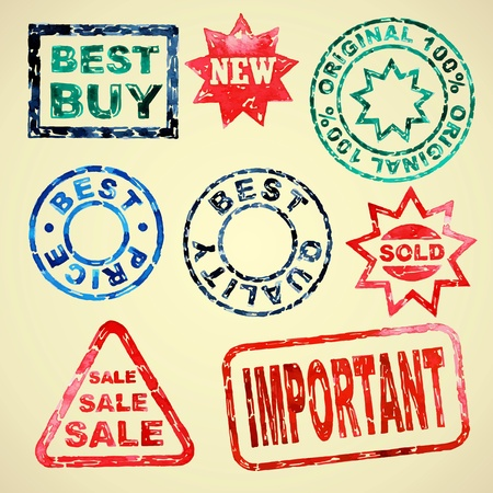 Set of grunge rubber stamps sales  Vector
