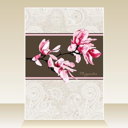 magnolia: magnolia watercolor pattern