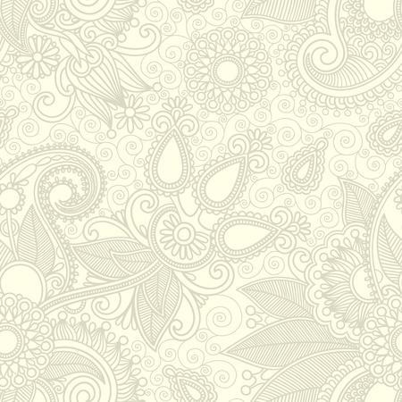 seamless flower paisley design background Stock Vector - 11638956