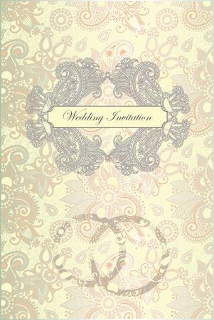 Vector ornate frame wedding invitation Stock Vector - 11638939