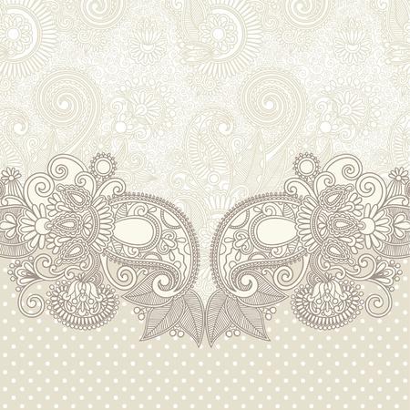 victorian anniversary: ornate card announcement  Illustration