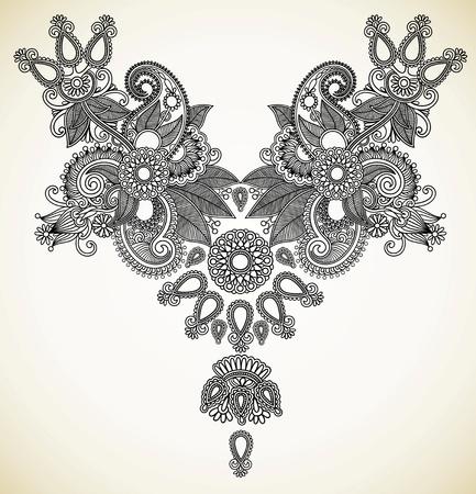 orient: Neckline embroidery fashion