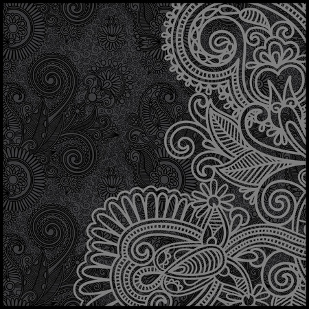 black and white floral pattern Stock Vector - 11639016