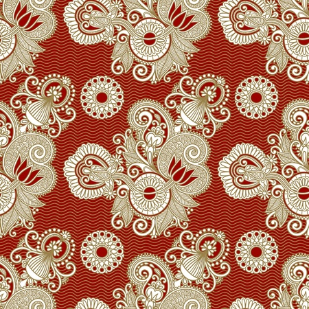 seamless flower paisley design background Stock Vector - 11638895