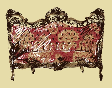 luxury sketch arm chair  Vector