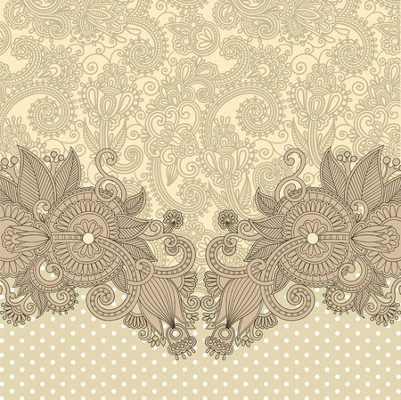 damask background: ornate card announcement  Illustration