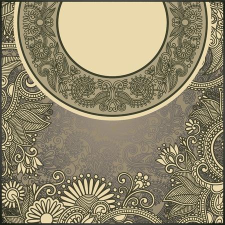 ornate floral carpet background Stock Vector - 12392443