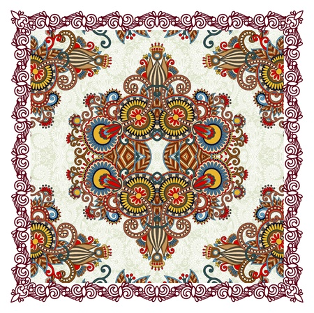 Ornamental Floral Paisley Bandana Stock Vector - 12392474