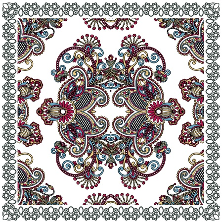 neck scarf: Traditional Ornamental Floral Paisley Bandana