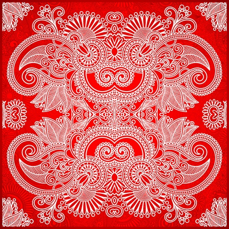 western pattern: Traditional Ornamental Floral Paisley Bandana
