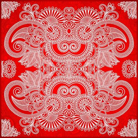 western border: Traditional Ornamental Floral Paisley Bandana