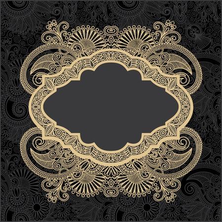 dark ornate floral background  Vector