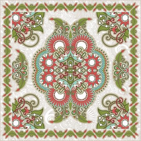 handkerchief: Traditional Ornamental Floral Paisley Bandana