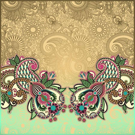 royal wedding: ornamental template with floral background  Illustration