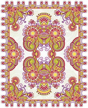 Oriental Floral Ornamental Seamless Carpet Design  Vector