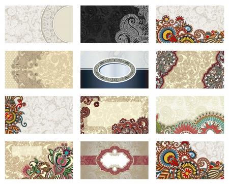 vector de negocio de flores Conjunto de tarjeta Ilustración de vector