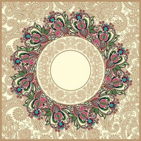 ornate floral carpet background  Stock Vector - 12392463
