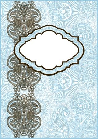 lace filigree: Vector ornate frame for invitation or announcement Illustration