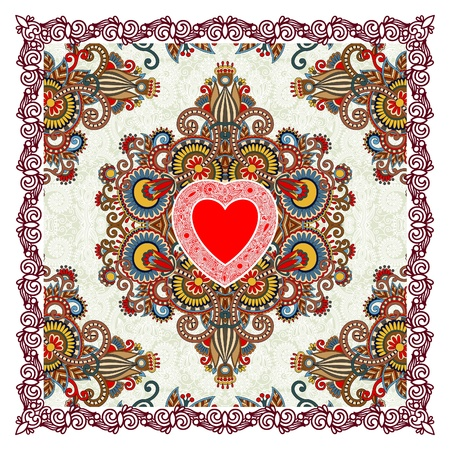 Valentin Day card with heart  Vector