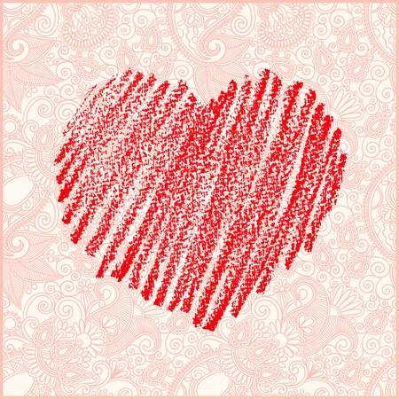 Valentine's day vector background  Stock Vector - 12392512