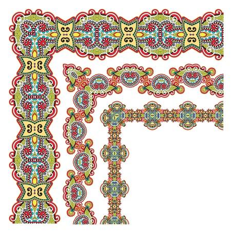floral vintage frame design. Vector set. Illustration