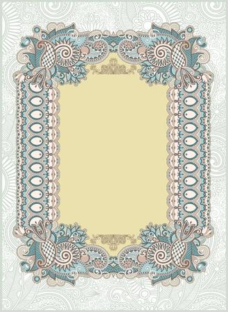 french label: Vintage frame