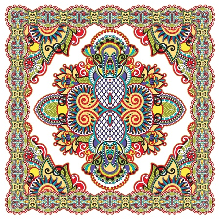 Traditional Ornamental Floral Paisley Bandana  Stock Vector - 12392499