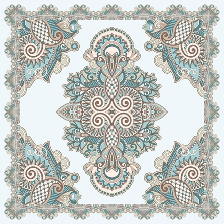 Traditional Ornamental Floral Paisley Bandana  Stock Vector - 12392501