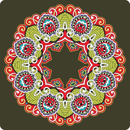 Circle ornament, ornamental round lace  Stock Vector - 12392504