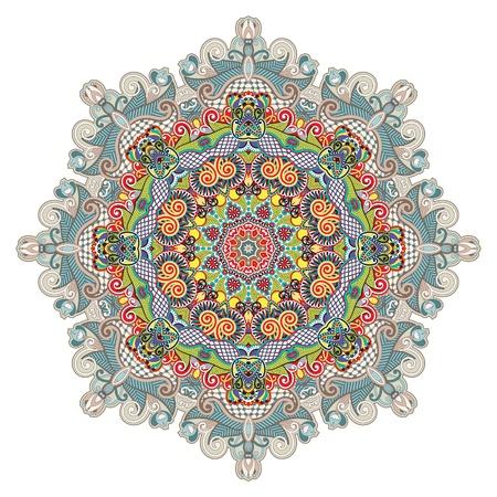 Kreis Ornament, ornamentale runden Spitzen Vektorgrafik