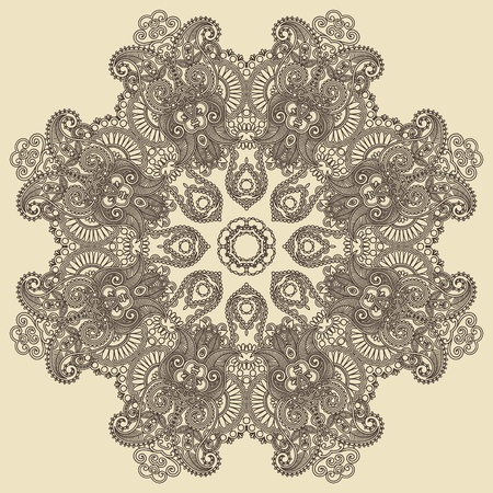 Circle ornament, ornamental round lace  Stock Vector - 12392508