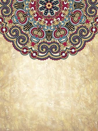 art line: grunge c�rculo de fondo floral Vectores