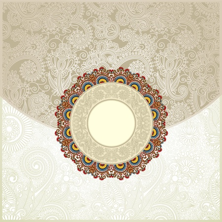 filigree background: Ornate floral background  Invitation to the wedding or announcement