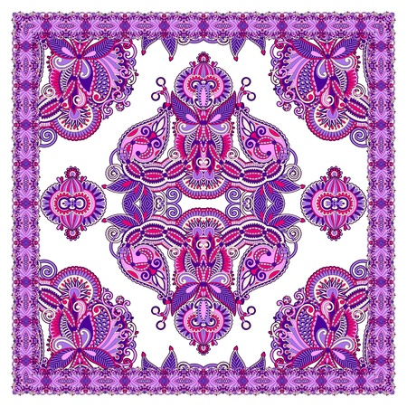 Traditional Ornamental Floral Paisley Bandana  Stock Vector - 12976644