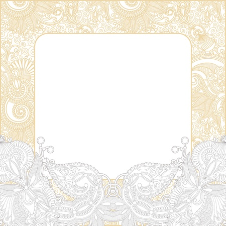 Ornate floral background  Invitation to the wedding or announcement  Vector