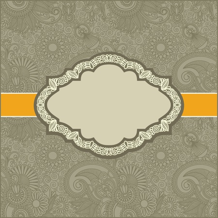 french style: Vintage template with floral background  Illustration