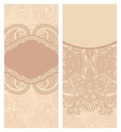 Vintage Label in Floral Background  Vector