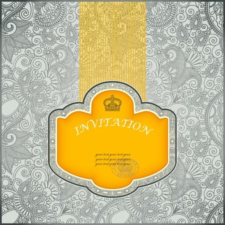 packaging template: Vintage Label in Floral Background
